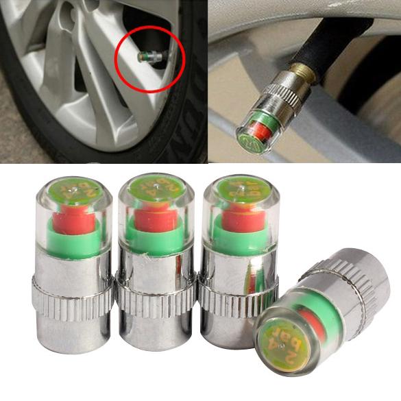4Pcs Car Auto Tire Air Pressure Valve Stem Caps Sensor Indicator Alert Bike B2C Shop(China (Mainland))