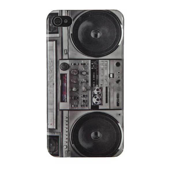EagleRidge Vintage Radio Cassette Tape Recorder Player Case For iPhone 4 4S(China (Mainland))
