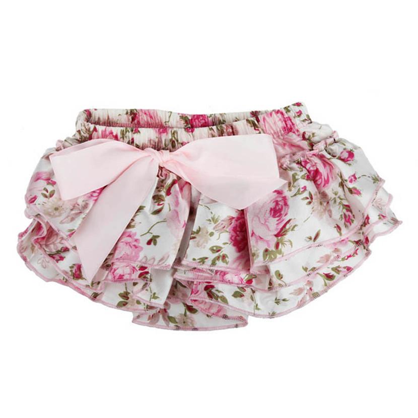 Baby Ruffle Bloomers Layers Diaper Cover Flower Shorts Skirts Summer PK/S(China (Mainland))