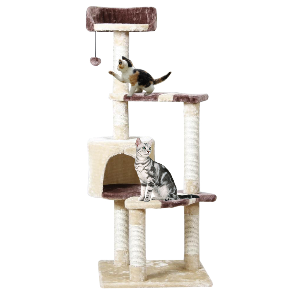 Cat Toy Scratching New Arrival Domestic Delivery H124CM Post Wood Climbing Tree Cat Jumping Standing Frame Cat Furniture(China (Mainland))