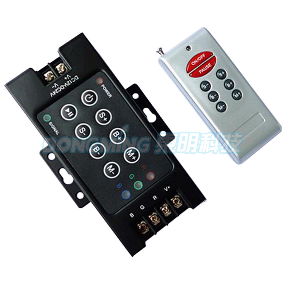 led strip remote control rgb led mini controller 8key 360w DC12V 8A wireless RF led controller for RGB led strip lights(China (Mainland))