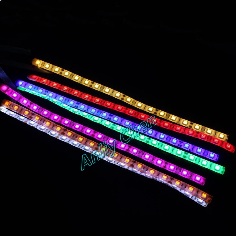 Led Lights Rainbow: 2pcs/lot GDT PC Computer Case DC 12V 4P Rainbow LED Light