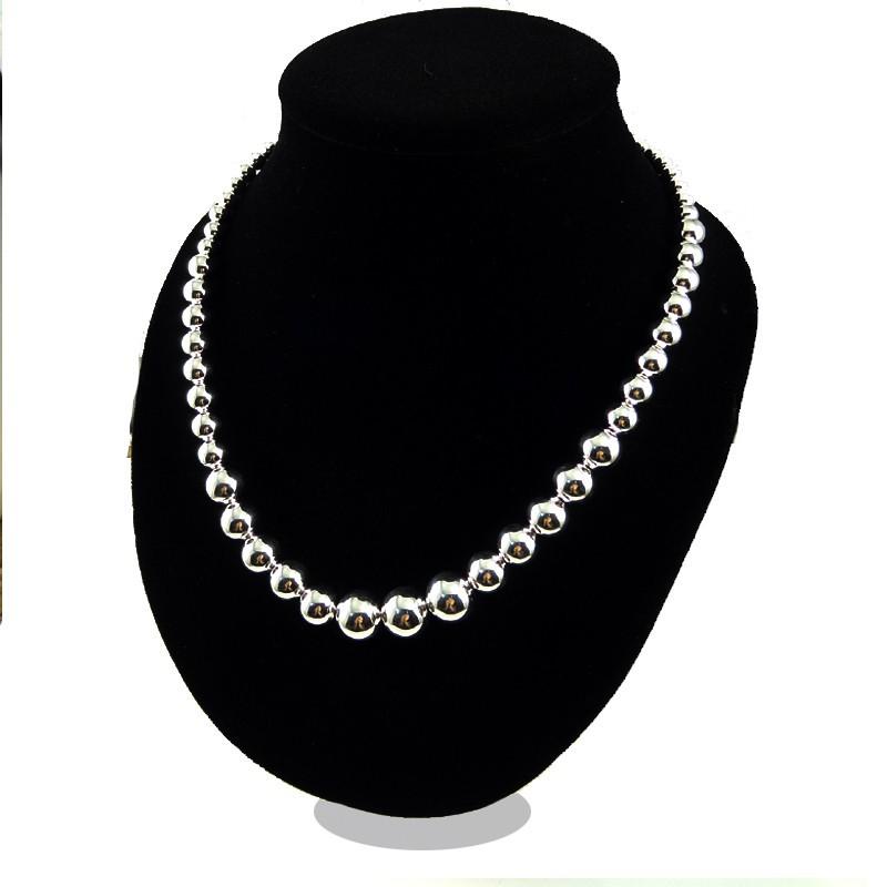 Ретро продажа серебро 925 бусины ожерелье 2015 воротник ювелирные изделия ожерелье colar ожерелья женщины bijuterias ювелирные изделия бижутерии XL1587