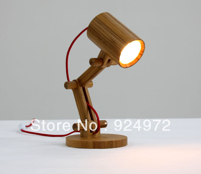 Simple bamboo table lamps, Noble bamboo desk lamps, retro reading lights for beds