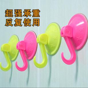 2015 creative Home Furnishing daily necessities colorful sucker hook vacuum hook hook Market stall run wild(China (Mainland))
