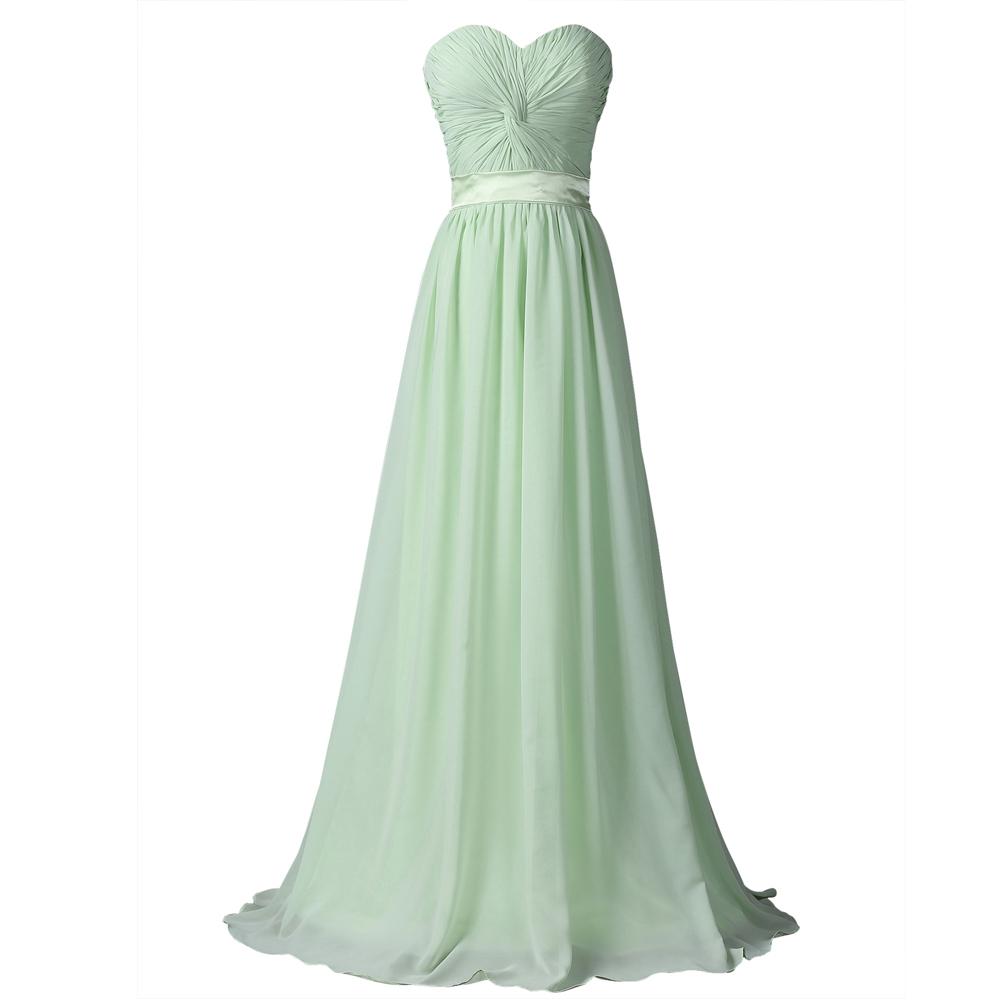 Mint Green Bridesmaid Dresses Long Chiffon Wedding Guest Dress Floor Length Strapless Cheap Bridesmaid Dresses Under 50 6238(China (Mainland))