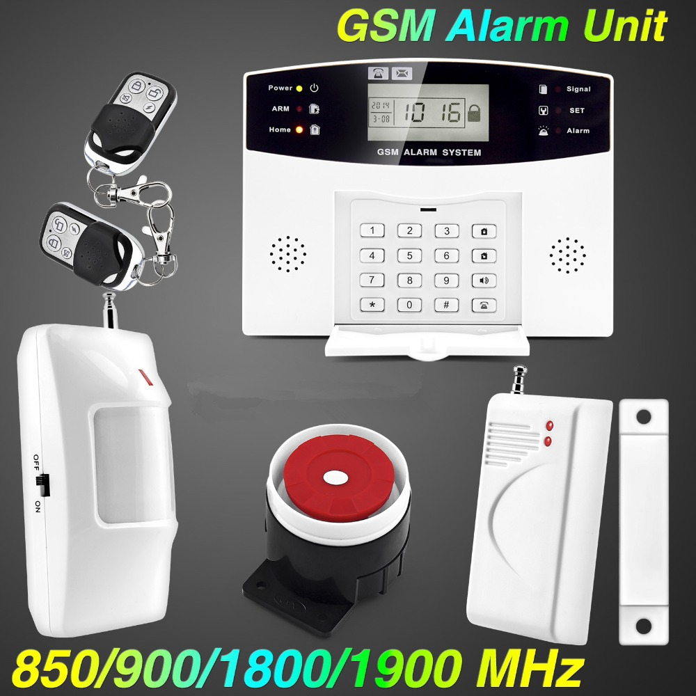Free shipping!Wireless GSM Alarm system Home security Alarm systems with LCD Keyboard Sensor alarm<br><br>Aliexpress