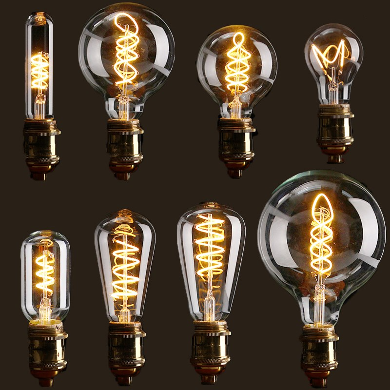 Vintage Filament LED Edison Bulb Dimmable B22//E27 Decorative Industrial Light A+