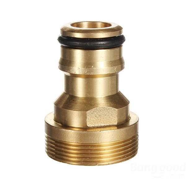OnlineCart Threaded Hose Outside Tap Water Connector Adapter Brass Fitting(China (Mainland))