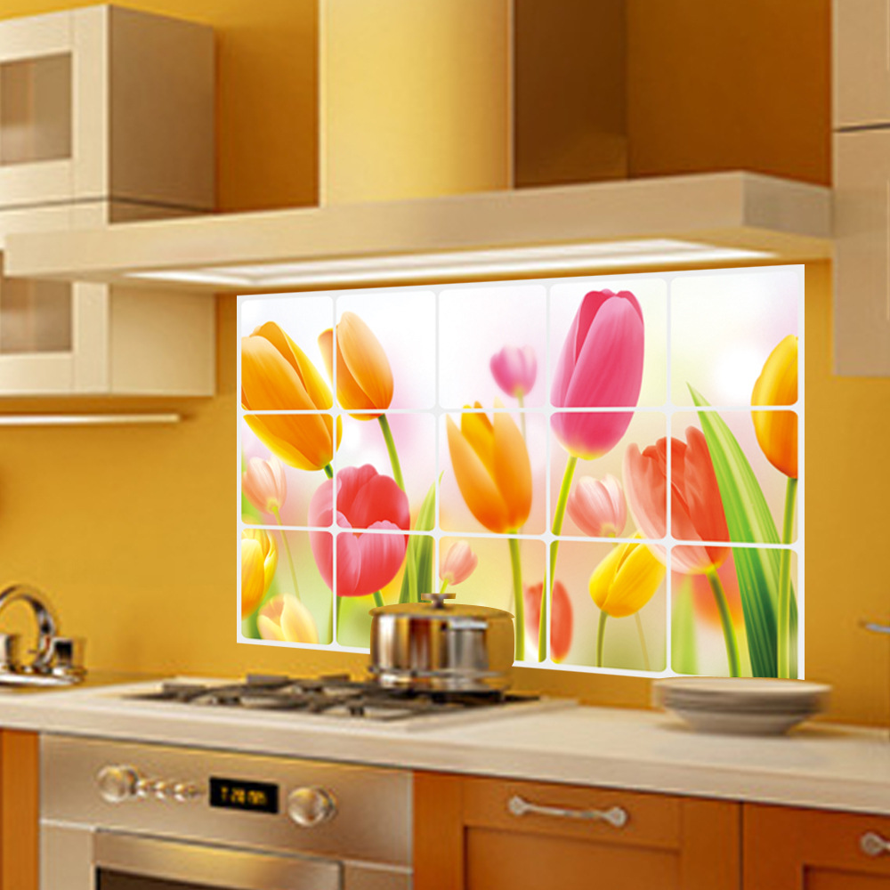Venta al por mayor diy pvc cocina houzz pegatinas de pared for Pegatinas murales pared