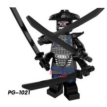 Único Ninja Filme Masters of Spinjitzu JAY KAI Lloyd COLE ZANE Wu NYA Ronin GARMADON blocos de construção de tijolos brinquedos para crianças(China)
