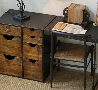 pliage bureau loft olien industriel mash bureau bureau tables en fer pour faire le vieux r tro. Black Bedroom Furniture Sets. Home Design Ideas