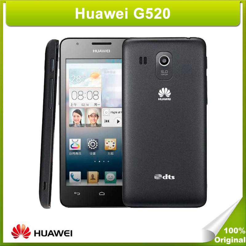 Unlocked Huawei G520 4.5 inch IPS Screen Android OS 4.1 Smart Phone Quad Core MSM8225Q 1.2GHz Dual Sim WCDMA GSM Network(China (Mainland))