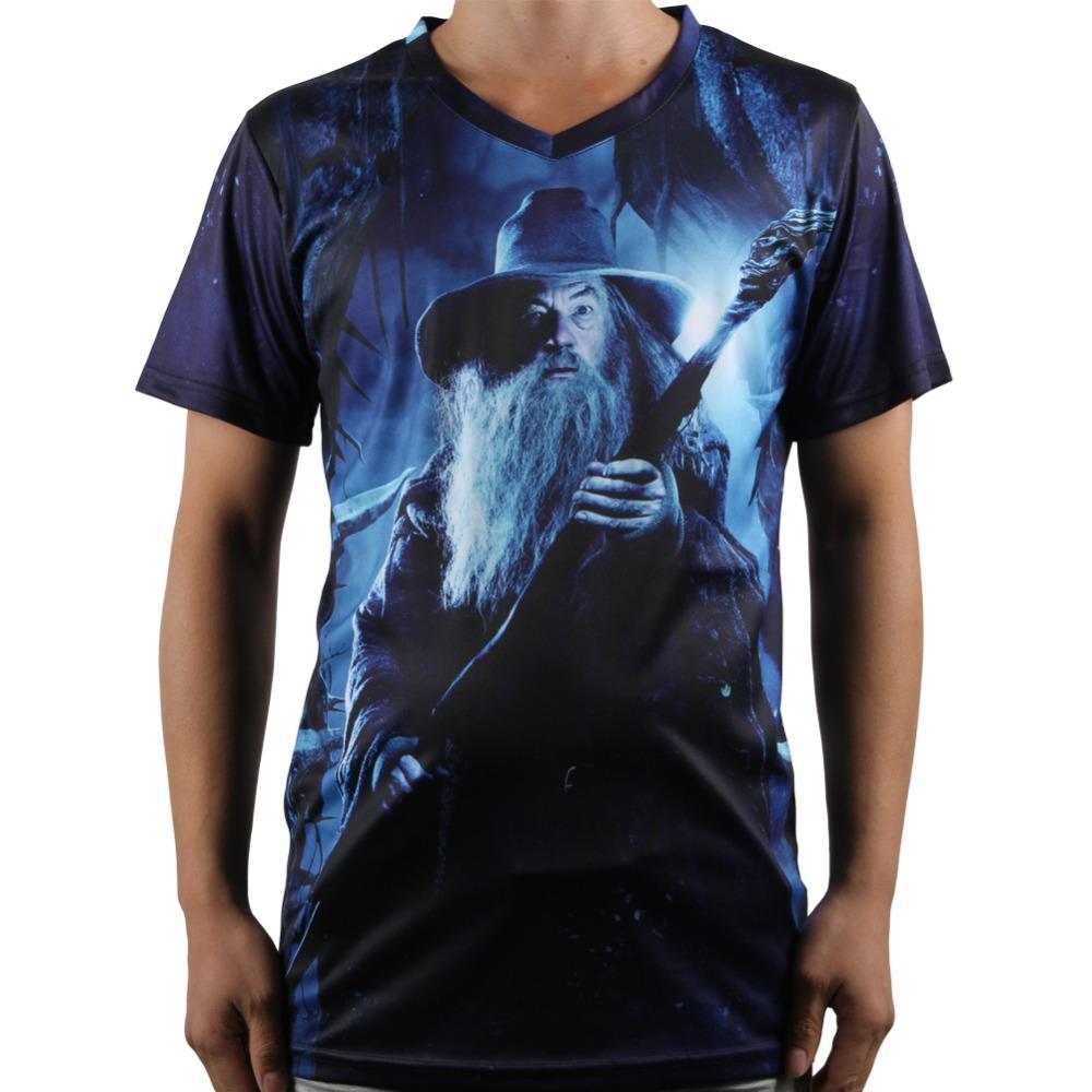 Design The Hobbit Men T Shirt V Neck Short Sleeve Popular
