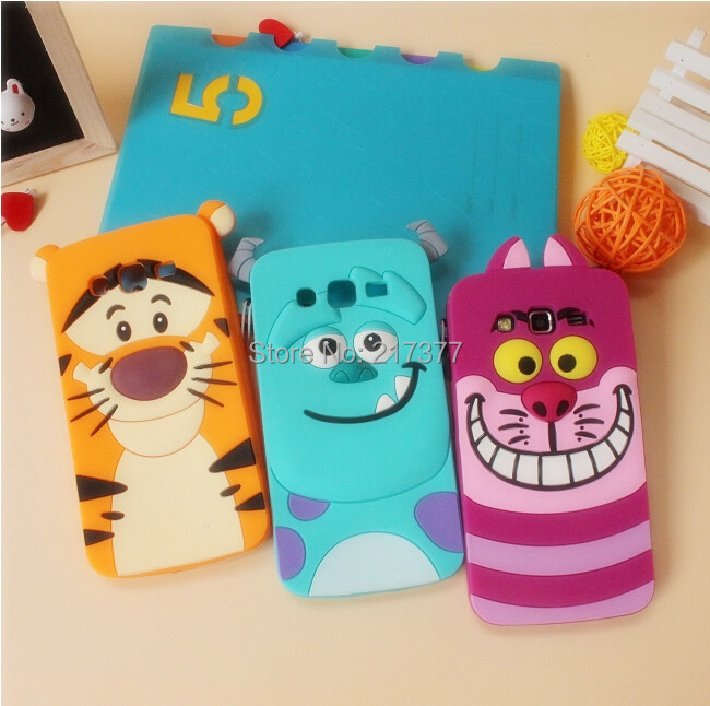 3D Cartoon Sulley Cheshire Cat Tigger Silicone Skin Cover Case Samsung Galaxy grand neo i9060 9060 case - Mobile Phone and Retail Center store
