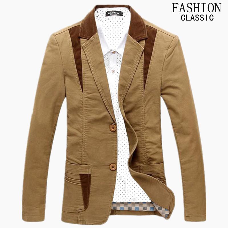 Casual Suits Men 2016 Spring Autumn New Fashion Casual Slim Suit Men Dress Suits Jacket Blazer