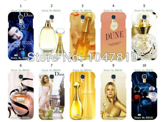 Online-custom wholesale 10pcs/lot Famous brand Perfume white hard cases for samsung galaxy s4 i9500 Free Shipping(China (Mainland))
