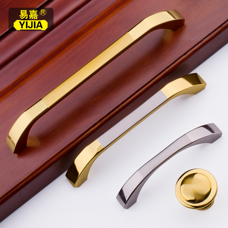 Simple Smooth Bright Silver Handles and Knobs Kitchen Cabinet Drawer Wardrobe Door Shoe Cabinet Solid Handle Pull(China (Mainland))