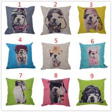 Cute Pug Dog Pattern Cushion Cover Throw Pillow Case