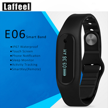 E06Wristband Bluetooth 4.0 Smart Bracelet smart band Heart Rate Monitor Wristband Fitness Tracker for Android iOS Free Shipping