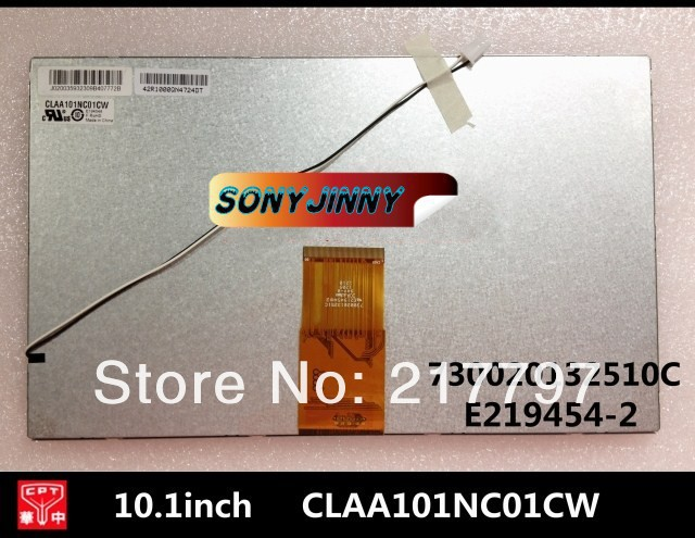 Free shipping 10.1-inch LCD screen CLAA101NC01CW 730020132510C E219454-2 internal display for taplet pc<br><br>Aliexpress