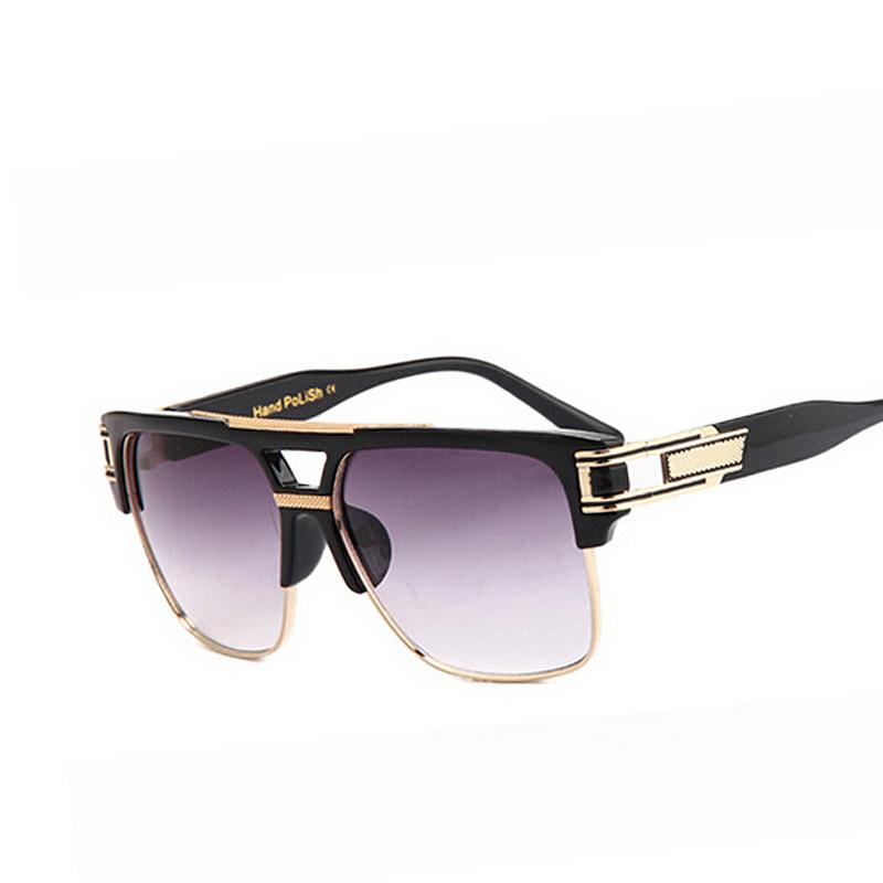 Oversized Gradient Lens Sunglasses Men Women Brand Design ...