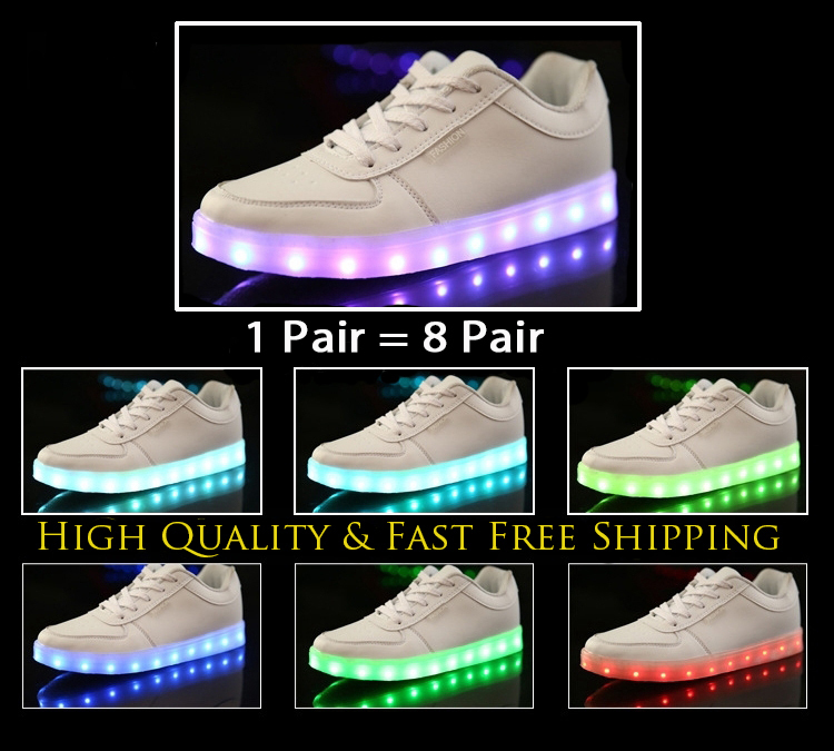 7 Colors 2015 New Mens Womens Sneakers Luminous USB Charging Colorful LED lights Sneakers Casual Flat Shoes Zapatos Hombre Mujer(China (Mainland))