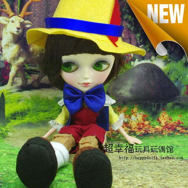 Free shipping 9inch Super cute dress up TANGKOU doll Big Head and big eyes Pinocchio doll Can makeup doll Toys for girls<br><br>Aliexpress