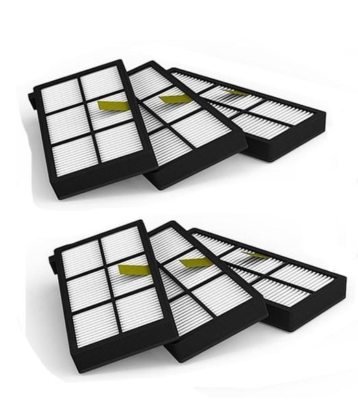 New 6PCS Hepa filter for iRobot Roomba 800 900 Series 870 880 980 Free Post(China (Mainland))
