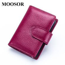 Buy 2017 New Genuine Leather Women Men ID Card Holder Card Wallet Purse Credit Card Business Card Holder Protector Organizer DC174 for $10.49 in AliExpress store