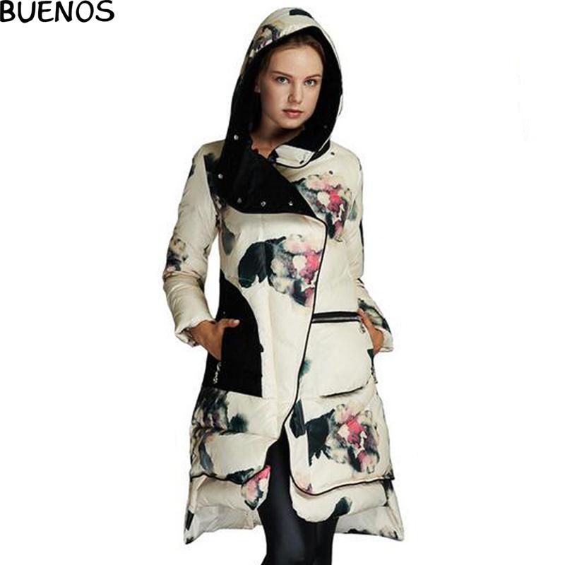 Winter Jacket women Coats Floral Print White Duck Down Parka Female Winter Coat Women Parkas Cotton Padded BN930Одежда и ак�е��уары<br><br><br>Aliexpress