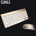 Fashionable Design 2 4G Ultra Slim Wireless Keyboard and Mouse Combo New Computer Accessories For Apple