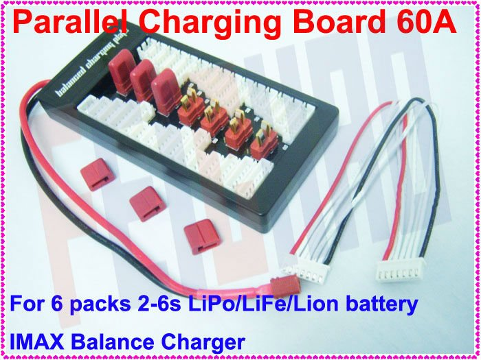 F01782 Balance Charge Adaptor Board Parallel Charging Plate , Up to 6 packs 2-6s Lipo LiFe Lion Battery ,iMAX B6 B6AC B8 Charger(China (Mainland))