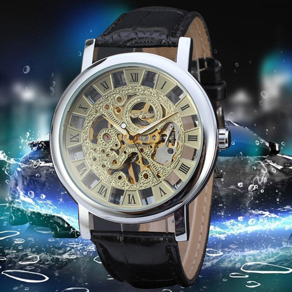 Forsining Winner Skeleton Men Relogio Male Men automatic Mechanical Watch luxury watch men leather gifts for men montre homme<br><br>Aliexpress
