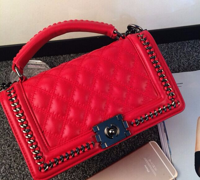 Candy colors hit the color portable small square package, classic fashion chain shoulder bag mixed colors, new ladies bags