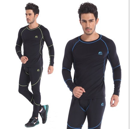 thermal underwear men sets compression sport fleece sweat quick drying thermo clothing - dabao shops store