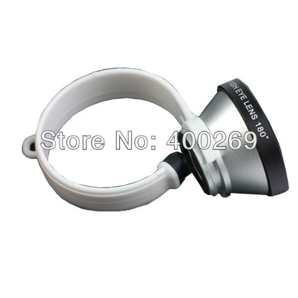 Wholesale 180 Degree Conversion Circle Fish Eye Lens for iPhone4 4S 5 Mobile Phone i906(China (Mainland))