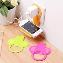 2016 New Universal Linked Wall Charging Rack Holder For Cell Phone Charger Random Color(China (Mainland))
