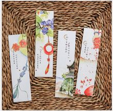 30Pcs/Pack Vintage Classic Poetry Flower Plants Painting Bookmark Paper Cartoon Film Bookmark Writing Card Gift Stationery(China (Mainland))