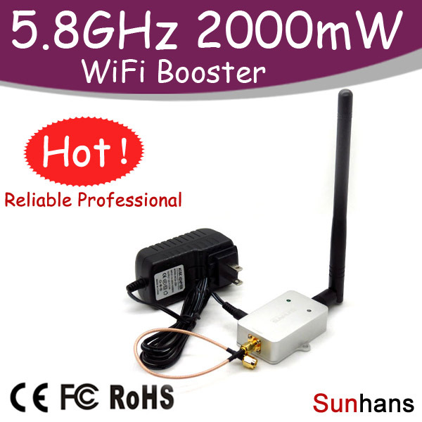 Hot sale! SH58Gi2000 Original Sunhans Repeater 2000mW 5.8G WiFi Booster Wireless Amplifier 2W - Meenoo Mi's store