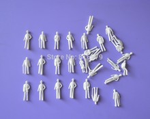 free shipping 1000pc scale model white figure in 1:200 for Architecture