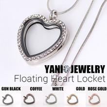10 unids/lote envío gratis medallón flotante cristal cristal del corazón Locket para encantos Locket del corazón flotantes(China (Mainland))
