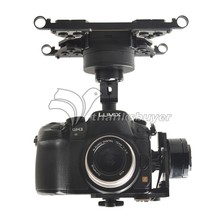 HG3D FPV Mini DSLR 3-Axle Brushless Gimbal Camera Mount PTZ for GH3 GH4 NEX5 A5000 6000 A7 Multicopter(China (Mainland))