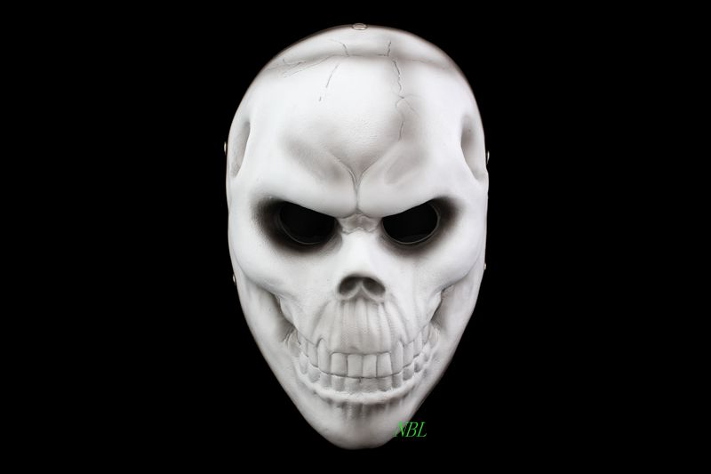 Halloween House Party Full Face Mask Harvest Day 2 Game Theme Scary Skull Resin Masks 100% Original Free Shipping(China (Mainland))
