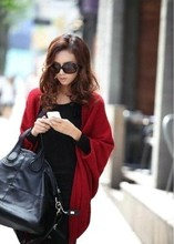 Free Shipping Cardigans 2015 Women Fashion Sweater Casual Knitted Cardigans Woman Winter Clothes Pull Sale Red(China (Mainland))