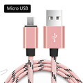 1m 2m 3m Metal Braided Micro USB cable Fast Charger Sync Data Connector Quick charging For