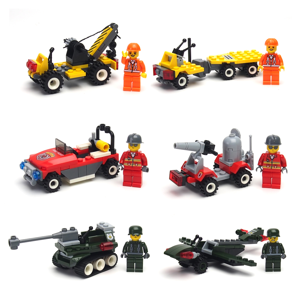 City Police Minifigures Building Blocks Fire Car Military Bricks Engineering vehicles Model Building City Compatible with Legoes(China (Mainland))