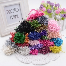 300pcs Mini Pearl Stamen Sugar Artificial Flower For Wedding Decoration DIY Pompom Scrapbooking Decorative Wreath Fake Flowers(China (Mainland))