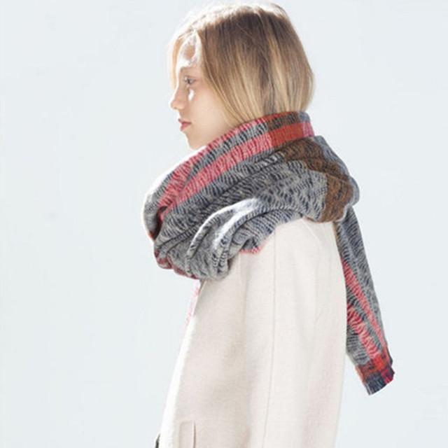 2016 новый зимний синий супер мягкий платок бахромой шарфы мягкие теплые шарфы