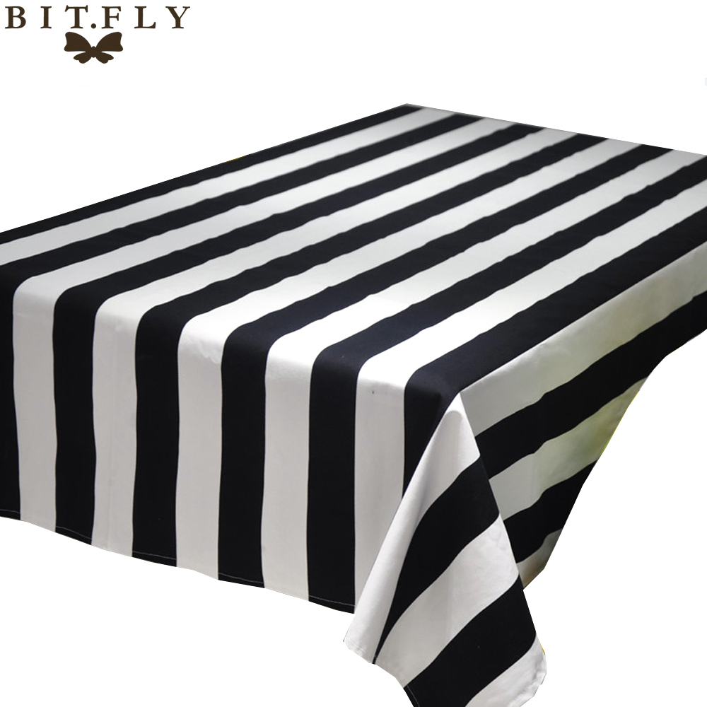 Black and white striped bed sheets - Geometric Wave Black And White Striped Table Cloth Square Rectangular Tablecloth Table Cover Home Restaurant Decoration
